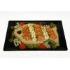 zalmsalade luxe opgemaakte met paling, gerookte zalm en Hollandse garnaaltjes